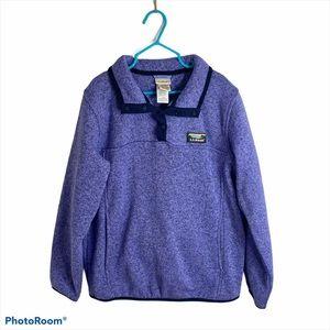 L.L. Bean Purple Knit Pullover Sweatshirt Medium